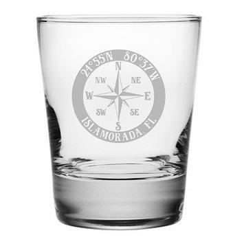 Longshore Tides Galvez Compass Rose 14 oz. Glass Cocktail Glass