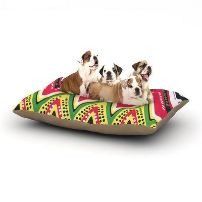 East Urban Home Heidi Jennings 'Jamaican Me Crazy' Dog Pillow with Fleece Cozy Top Size: Small (40