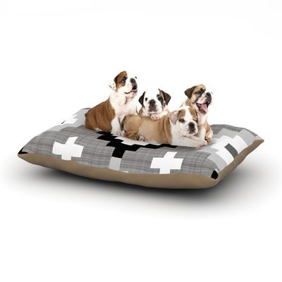 East Urban Home Pellerina Design 'Linen Moroccan' Geometric Dog Pillow with Fleece Cozy Top Size: Small (40