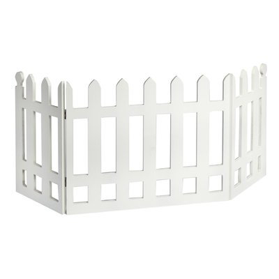 Imperial Home Wood Picket Freestanding Pet Gate