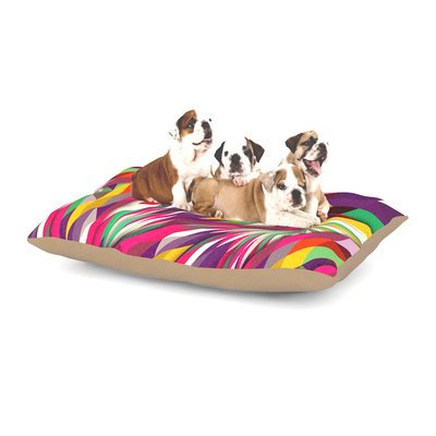 East Urban Home Danny Ivan 'Sweet' Geometric Dog Pillow with Fleece Cozy Top Size: Small (40