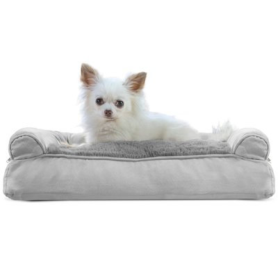Furhaven Dog Bolster Color: Gray, Size: 10