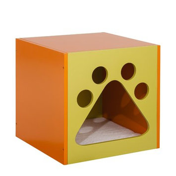 Ethan Pets Shadow Cat House Color: Mellow Green/Apricot Tan