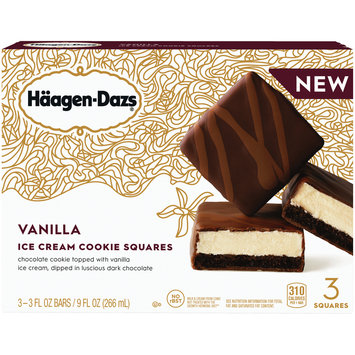 HAAGEN-DAZS Vanilla Ice Cream Cookie Squares