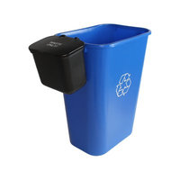 Busch Systems Office Combo Solid Lift 11 Gallon 2 Piece Recycling Bin and Waste Basket Set