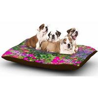 East Urban Home Carolyn Greifeld 'Water Florals' Dog Pillow with Fleece Cozy Top