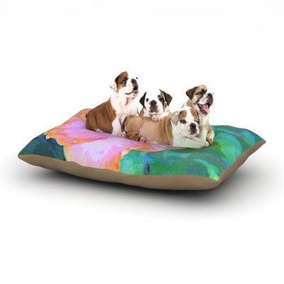East Urban Home Sylvia Cook 'Hibiscus' Dog Pillow with Fleece Cozy Top Size: Small (40