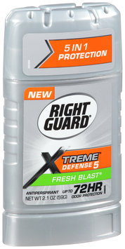 Right Guard® Xtreme™ Defense 5 Fresh Blast® Antiperspirant 2.1 oz. Stick