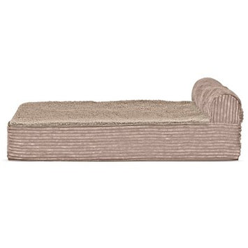 Zoey Tails Faux Fleece and Corduroy Dog Sofa Color: Sandstone, Size: Extra Large (44