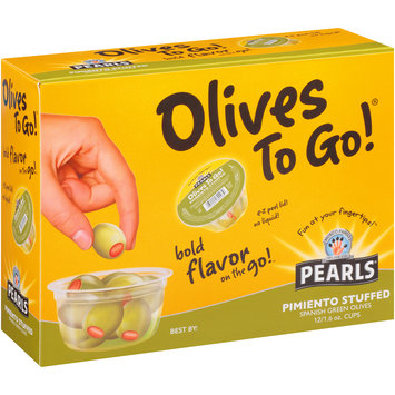 Pearls® Pimiento Stuffed Olives To Go!® 12-1.6 oz. Cups