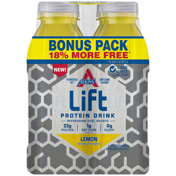 Atkins® Lift Lemon Protein Drink Bonus Pack  4-20 fl. oz. Bottles