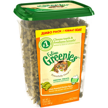 Feline Greenies™/MC Oven Roasted Chicken Flavor Cat Dental Treats 12 oz. Tub