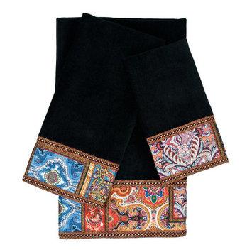 Sherry Kline Dawson 3 Piece Embellished Towel Set