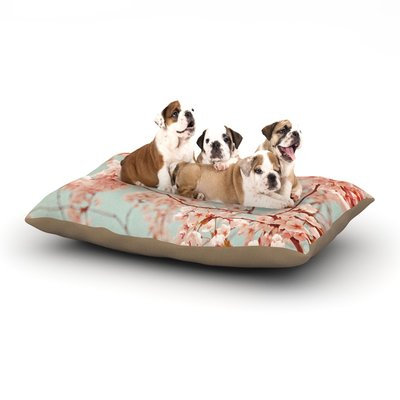 East Urban Home Iris Lehnhardt 'Blossoms All Over' Flowers Dog Pillow with Fleece Cozy Top Size: Large (50