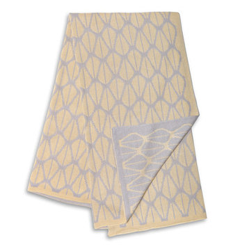Farallon Brands The Peanut Shell Grey and Yellow Reversible Bamboo Blanket