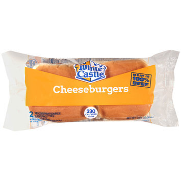 White Castle® Microwaveable Cheeseburgers 2 ct Wrapper