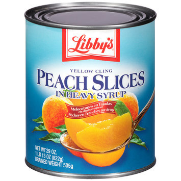 Libby's® Yellow Cling Peach Slices in Heavy Syrup 1.81 lb. Can