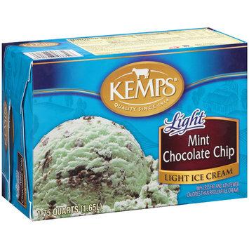 Kemps® Light Mint Chocolate Chip Ice Cream 1.75 qt. Carton