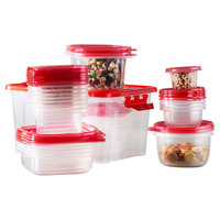 Wayfair Basics 54-Piece Plastic Food Storage Container Set Color: Red