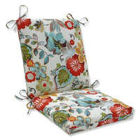 Pillow Perfect Alatriste Squared Corners Outdoor Dining Chair Cushion