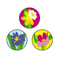 Trend Enterprises Superspots Stickers Spring Flowers