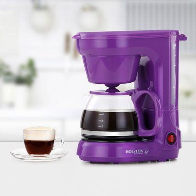 Holstein Housewares 6 Cup Coffee Maker Color: Purple