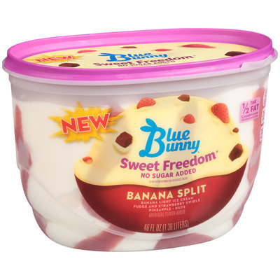 Blue Bunny® Sweet Freedom® No Sugar Added Banana Split Ice Cream 46 fl. oz. Tub