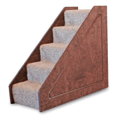 Lucky Cat Small Solid Side 5 Step Pet Stair Color: Ivory