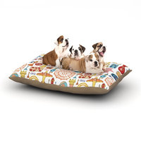 East Urban Home Jane Smith 'Vintage Games' Dog Pillow with Fleece Cozy Top Size: Large (50