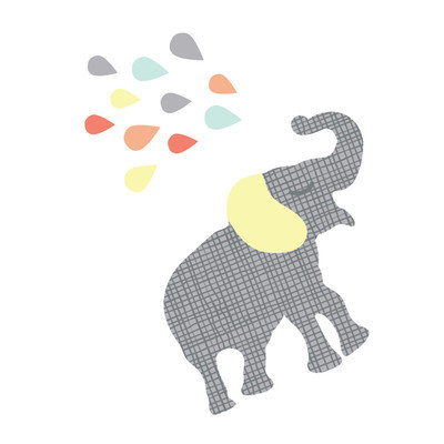 Eco Wall Decals 12 Piece Elephant Wall Decal Set Color: Gray