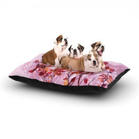 East Urban Home Iris Lehnhardt 'Autumn Symphony' Dog Pillow with Fleece Cozy Top Size: Small (40