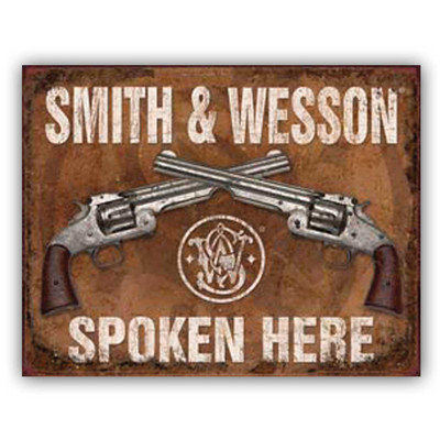 Ramson Imports Smith & Wesson, tin sign' Unframed Art