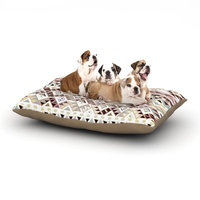 East Urban Home Nika Martinez 'Tribal Native' Dog Pillow with Fleece Cozy Top Size: Small (40