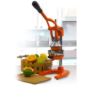 Imperial Home Cast Iron Manual Juicer Color: Orange