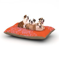 East Urban Home Patternmuse 'Mandala Pumpkin' Dog Pillow with Fleece Cozy Top Size: Small (40