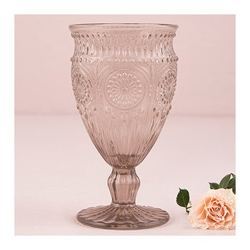 Weddingstar Vintage Inspired Pressed Glass Goblet Color: Smokey Gray