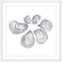 Marmont Hill Inc Marmont Hill - 'Oysters' by Thimble Sparrow Framed Painting Print