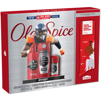 Old Spice Swagger NFL Gift Set with Socks 3 pc Box