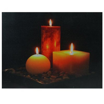 Winston Porter 'LED Lighted Tranquil Zen Triple Candles' Photographic Print on Canvas