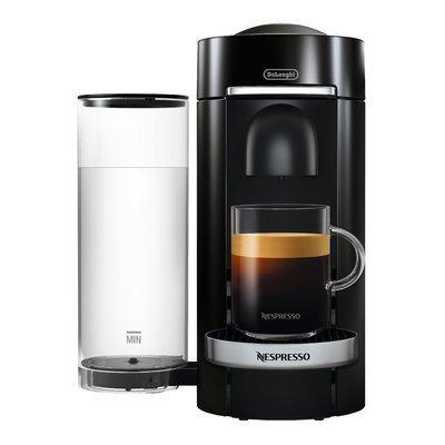 Delonghi Nespresso Vertuo Plus Deluxe Coffee and Espresso Single-Serve Machine with Aeroccino Milk Frother
