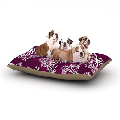 East Urban Home Suzie Tremel 'Squiggly Floral' Dog Pillow with Fleece Cozy Top Size: Small (40