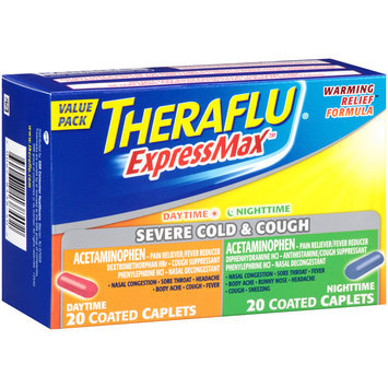 Theraflu® ExpressMax™ Daytime/Nighttime Severe Cold & Cough Coated Caplets 40 ct Box