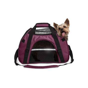 Furhaven Small Pet Tote With Weather Guard - Raspberry