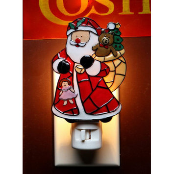 Cosmosgifts Santa with Gifts Plug-In Night Light