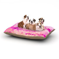 East Urban Home Ebi Emporium 'Je T'aime' Pastel Grundge Dog Pillow with Fleece Cozy Top Size: Small (40