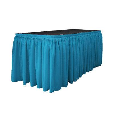 La Linen Table Skirt Color: Dark Turquoise