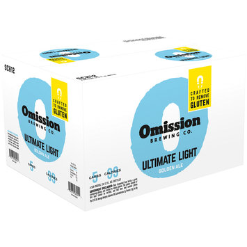 Omission Brewing Co. Ultimate Light Golden Ale 24-12 fl. oz. Box