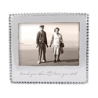 Mariposa Loved You Then Love You Still Beaded Picture Frame