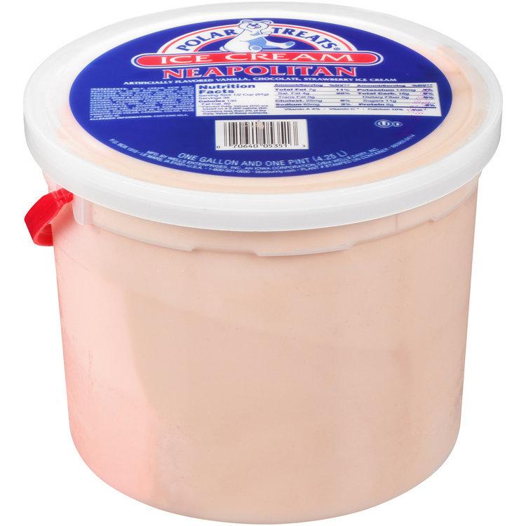 Polar Treats® Neapolitan Ice Cream 1.125 gal. Pail