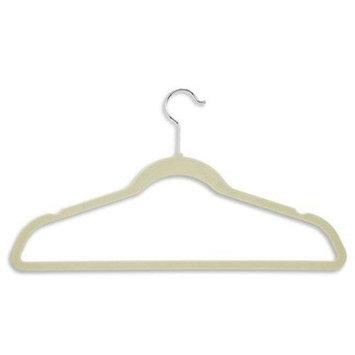 Zen Closet Ultra Thin Heavy Duty Velvet Suit Non-Slip Hanger Color: Beige